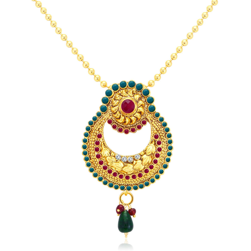 Sukkhi Fine Gold Plated Pendant Set For Women-1