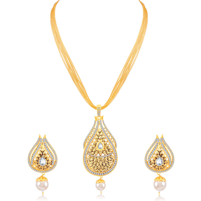 Sukkhi Lavish Gold Plated Pendant Set for Women
