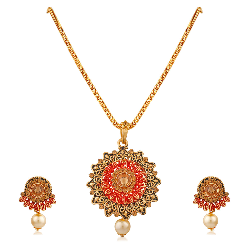 Trushi Eye-Catching Perfect Designer Pendent Set For Women