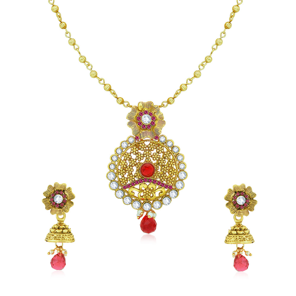 Sukkhi Incredible Gold Plated Pendant Set for Women