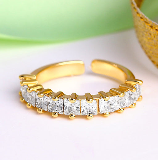 Sukkhi Traditional Baguette Shaped Engagement Ring For women