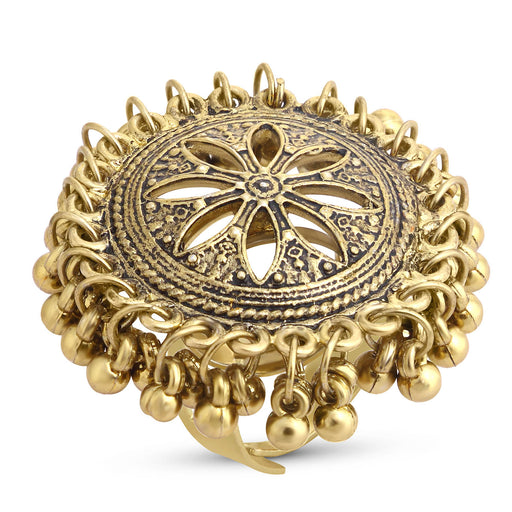 Sukkhi Incredible Gold Plated Floral Cocktail Ring For Women