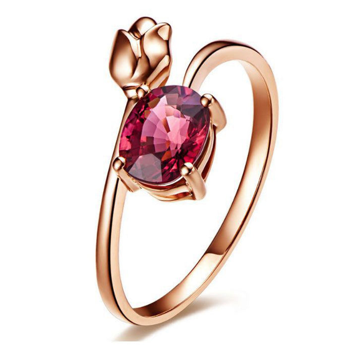 Sukkhi Exotic Rose Crystal Stone Gold Plated Ring for Women - 8