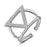 Sukkhi Adorable Triangle Rhodium Plated Ring for Women - 8