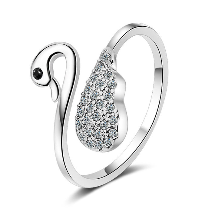 Sukkhi Exclusive  Swan Cubic Zirconia Rhodium Plated Ring for Women - 8