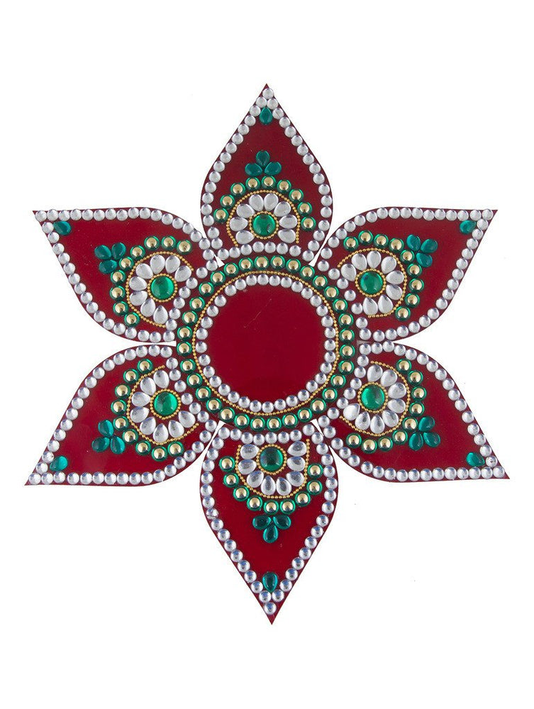 Sukkhi Must-Have Traditional Red Rangoli