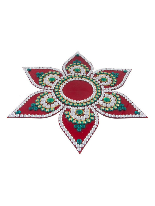 Sukkhi Must-Have Traditional Red Rangoli-1