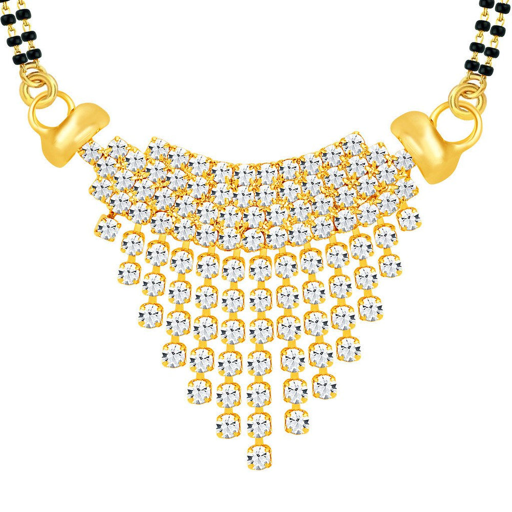 ShoStopper Incredible Gold Plated Austrian Diamond Mangalsutra Pendant