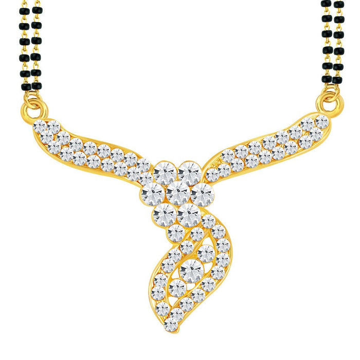 ShoStopper Amazing Gold Plated Austrian Diamond Mangalsutra Pendant