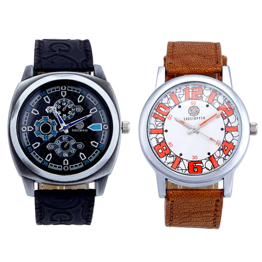 Shostopper Vintage Collection Combo Watches for Mens SJ162WCB