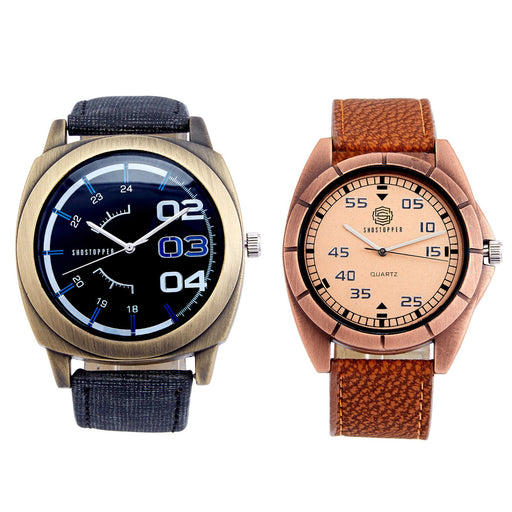 Shostopper Vintage Collection Combo Watches for Mens SJ176WCB