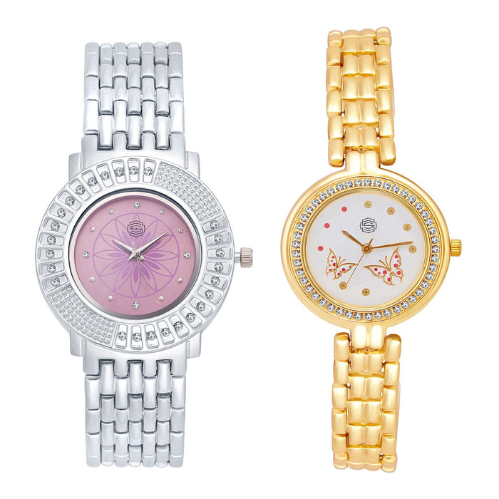 Shostopper Vintage Collection Combo Watches for Womens SJ179WCB