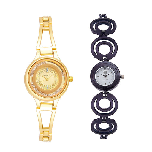 Shostopper Vintage Collection Combo Watches for Womens SJ182WCB