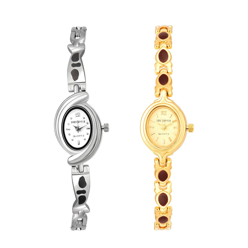 Shostopper Vintage Collection Combo Watches for Womens SJ190WCB