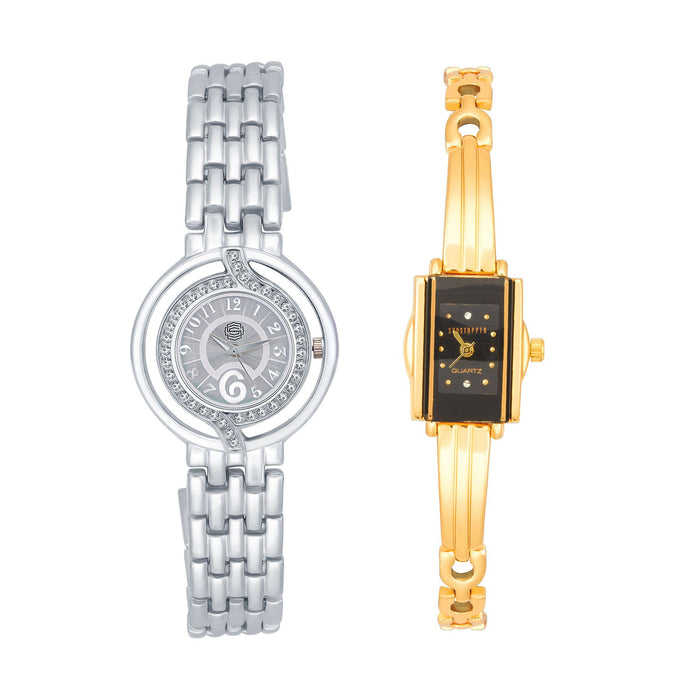 Shostopper Vintage Collection Combo Watches for Womens SJ191WCB