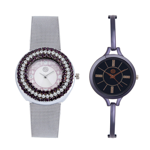 Shostopper Vintage Collection Combo Watches for Womens SJ194WCB