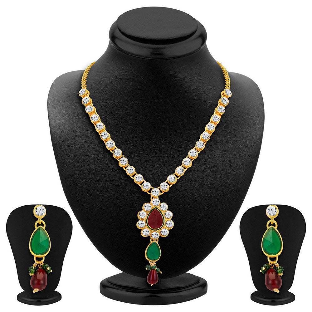 ShoStopper Glorious Gold Plated Austrian Diamond Necklace Set