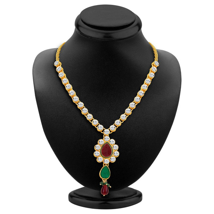 ShoStopper Glorious Gold Plated Austrian Diamond Necklace Set-1