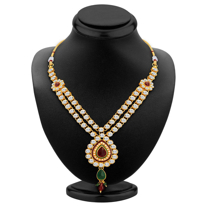 ShoStopper Gleaming Gold Plated Austrian Diamond Necklace Set-1
