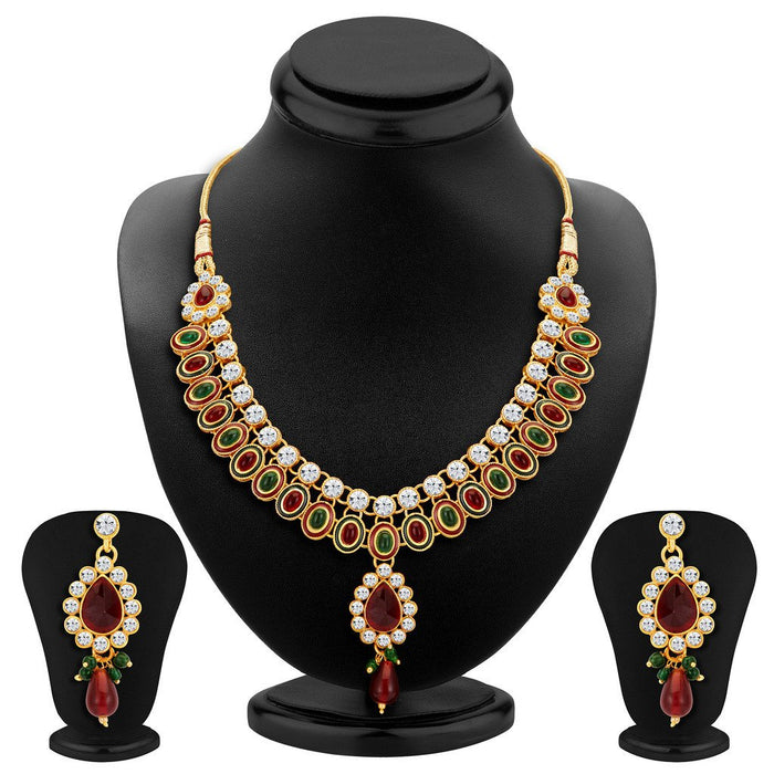 ShoStopper Bewitching Gold Plated Austrian Diamond Necklace Set