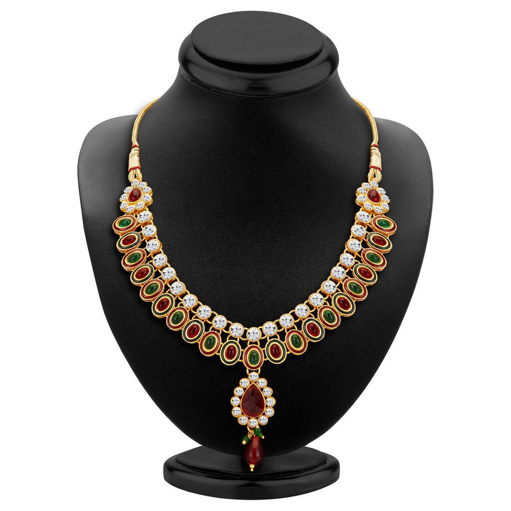 ShoStopper Bewitching Gold Plated Austrian Diamond Necklace Set-1