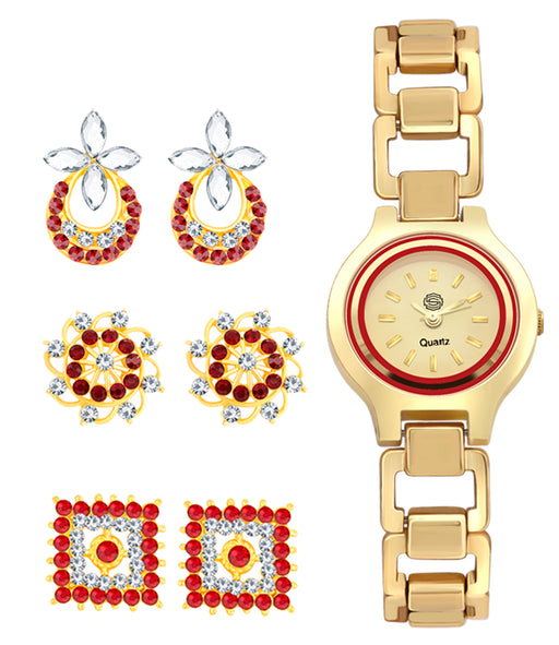 Sukkhi by Shostopper Vintage Collection Combo Of Earrings & Watch SJ234CB