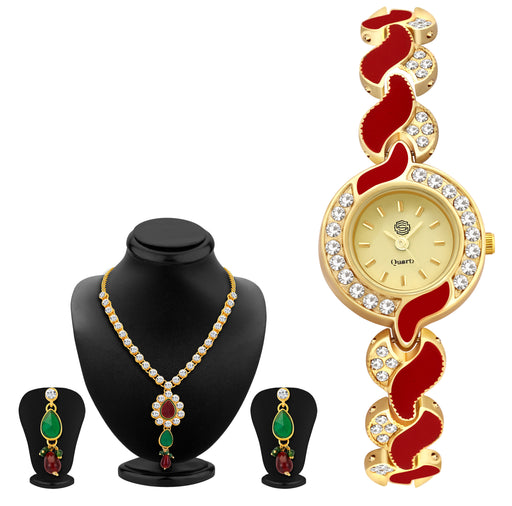 Sukkhi by Shostopper Vintage Collection Combo Of Necklace Set & Watch SJ235CB