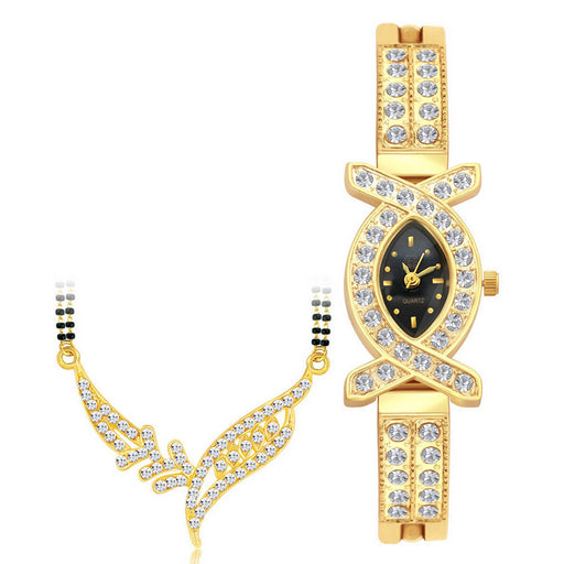 Shostopper Vintage Collection Combo Of Mangalsutra Pendant & Watch SJ237CB