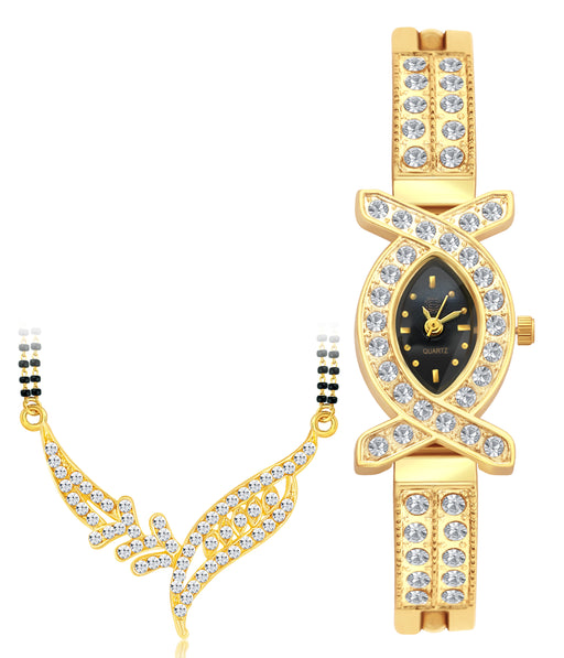 Sukkhi by Shostopper Vintage Collection Combo Of Mangalsutra Pendant & Watch SJ237CB
