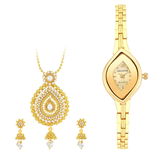 Sukkhi by Shostopper Vintage Collection Combo Of Pendant Set & Watch SJ239CB