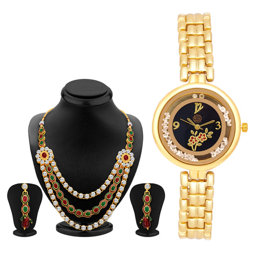 Sukkhi by Shostopper Vintage Collection Combo Of Necklace Set & Watch SJ242CB