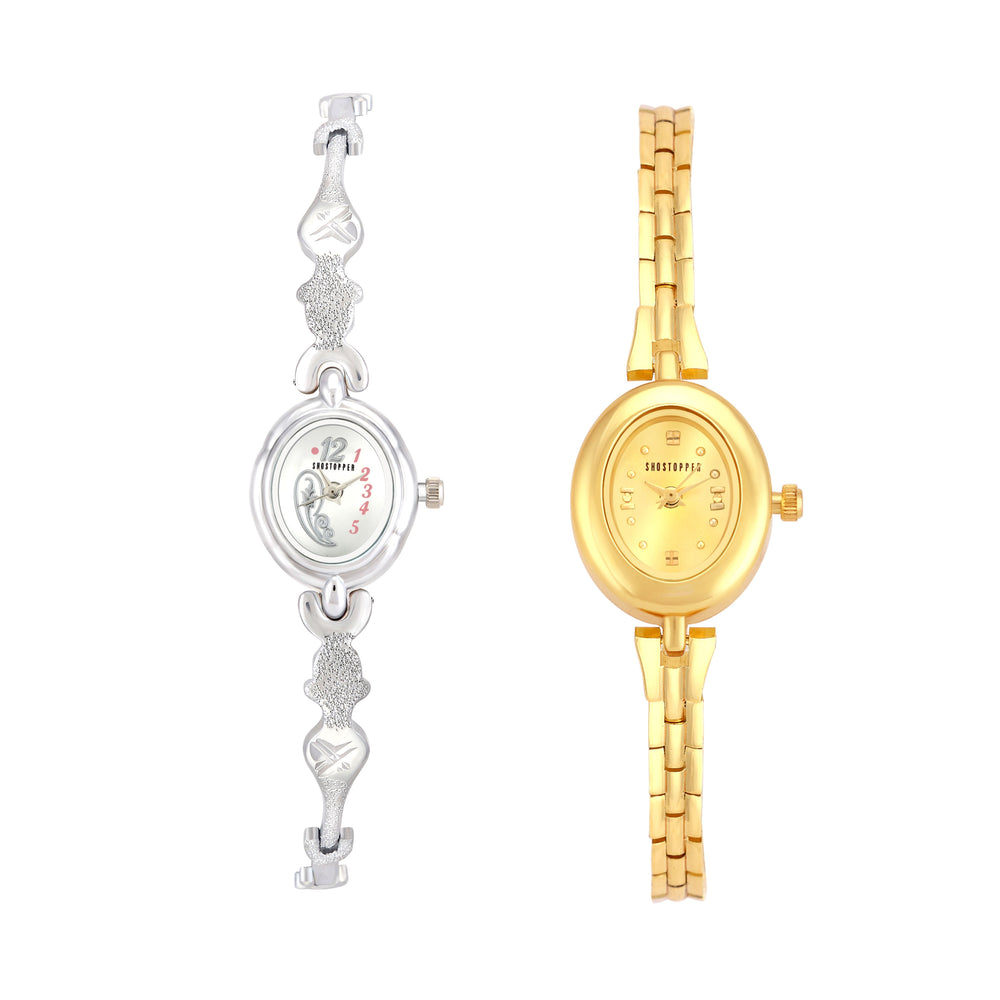 Shostopper Vintage Collection Combo Watches for Womens SJ271WCB