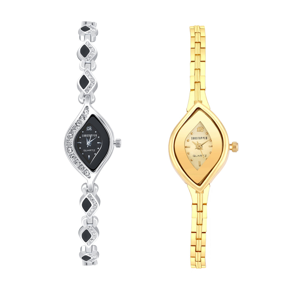 Shostopper Vintage Collection Combo Watches for Womens SJ272WCB