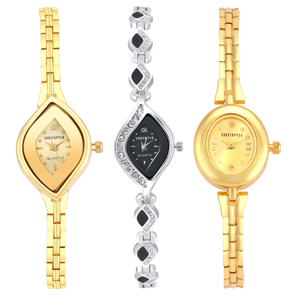 Shostopper Vintage Collection Combo Watches for Womens SJ295WCB