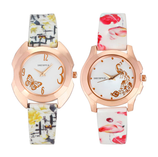 Shostopper Vintage Collection Combo Watches for Womens SJ313WCB