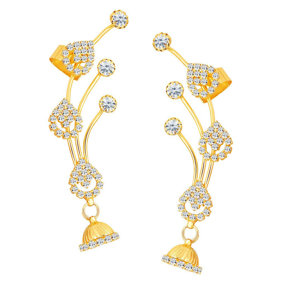 ShoStopper Youthful Gold Plated Austrian Diamond Earcuff
