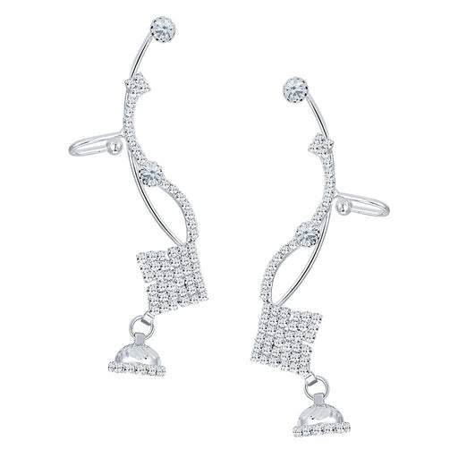 ShoStopper Creative Rhodium Plated Austrian Diamond Earcuff
