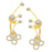 ShoStopper Elegant Gold Plated Austrian Diamond Earcuff