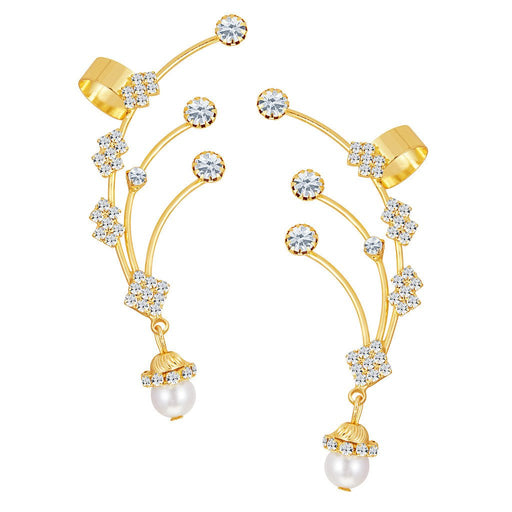 ShoStopper Delightly Gold Plated Austrian Diamond Earcuff