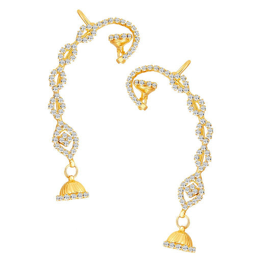 ShoStopper Sleek Gold Plated Austrian Diamond Earcuff