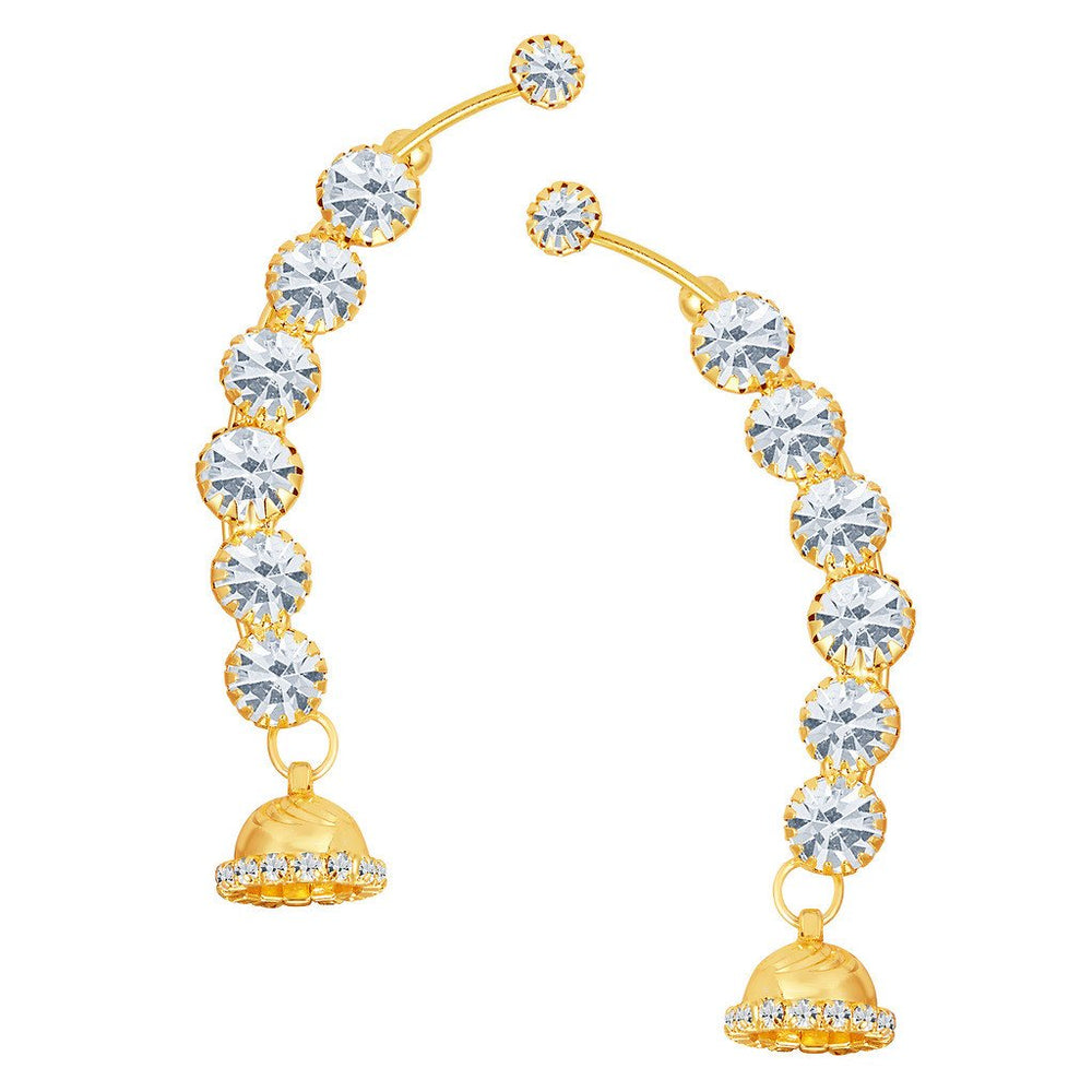 ShoStopper Brilliant Gold Plated Austrian Diamond Earcuff
