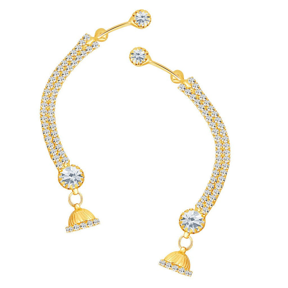 ShoStopper Traditionally Gold Plated Austrian Diamond Earcuff