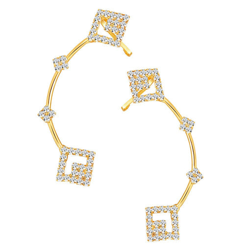 ShoStopper Appealing Gold Plated Austrian Diamond Earcuff