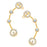 ShoStopper Beguiling Gold Plated Austrian Diamond Earcuff