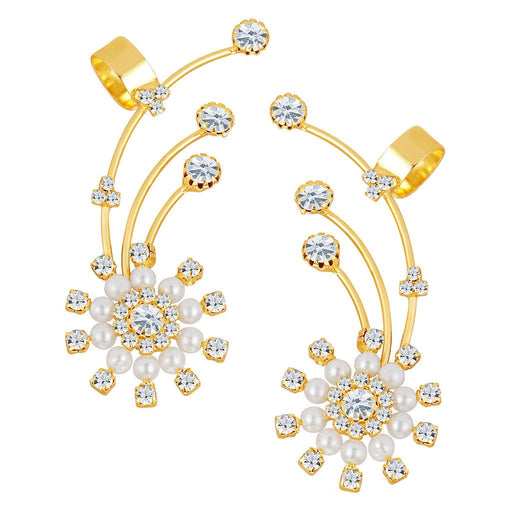 ShoStopper Resplendent Gold Plated Austrian Diamond Earcuff