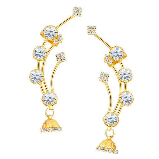 ShoStopper Lavish Gold Plated Austrian Diamond Earcuff