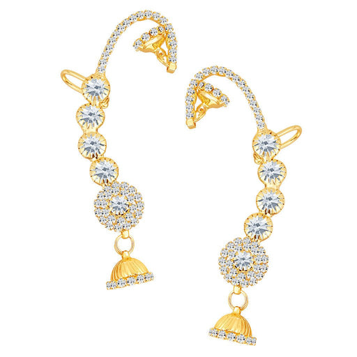 ShoStopper Attractive Gold Plated Austrian Diamond Earcuff