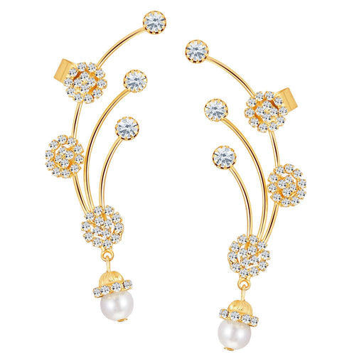 ShoStopper Exotic Gold Plated Austrian Diamond Earcuff
