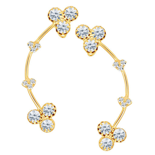 ShoStopper Incredible Gold Plated Austrian Diamond Earcuff