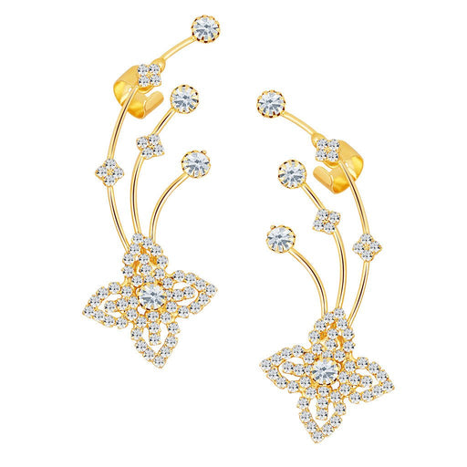 ShoStopper Modish Gold Plated Austrian Diamond Earcuff
